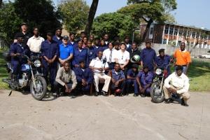 30 Luglio 2010 - Foto Ufficiale con la Polizia Municipale di Kitwe (ZAM)